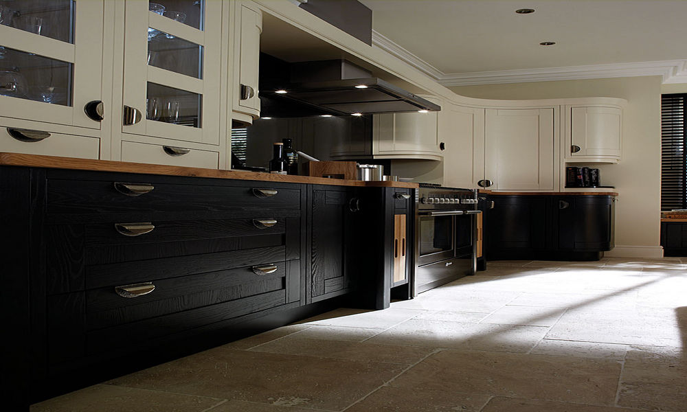 Welcome to inner peace interiors camberley and for Charcoal painted kitchen cabinets